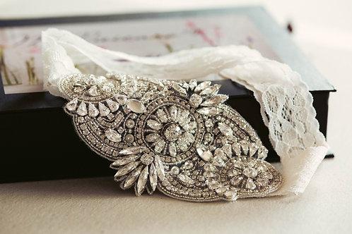 Beaded Lace Wedding Garter