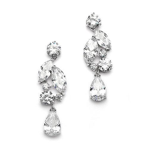 Trinity Mosaic Bridal Earrings