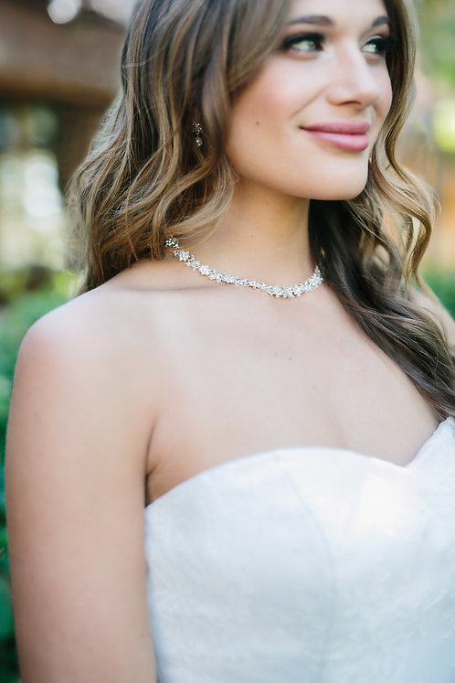 Chardonnay Bridal Necklace and Earrings Set