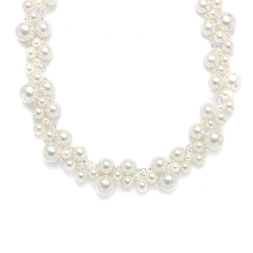 Moreno Pearl Necklace and Earring Set