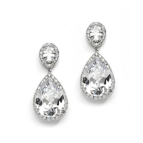 Pear-Shaped Bridal Earrings