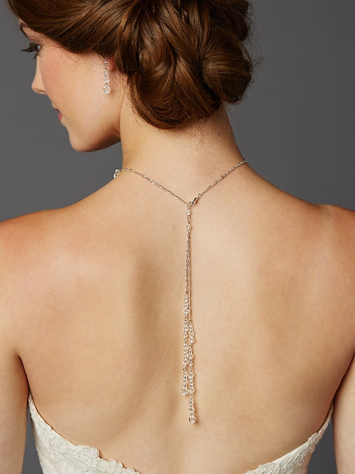 Crystal Lariat Bridal Necklace