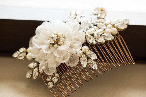 Floral Gold Bridal Hair Comb