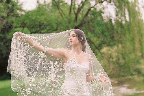 Vintage Inspired Cathedral Length Bridal Veil