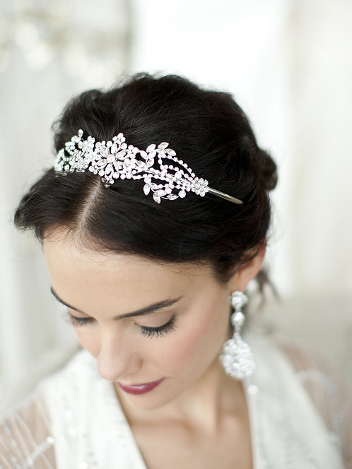 Art Deco Floral Design Headband or Tiara