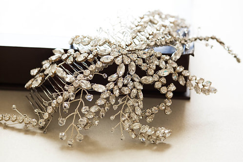 Silver Statement Bridal Hair Comb