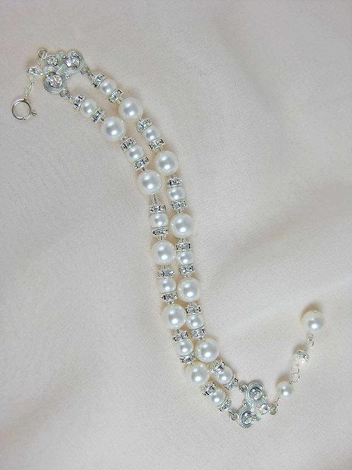 Petra Bracelet- Ivory/ Silver Sample