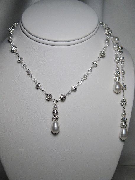 Grace Lariat Bridal Necklace