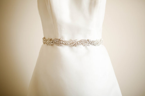 Shimmer Bridal Sash