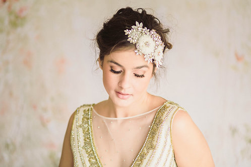 Ivory Floral Bridal Hair Comb/ Headband