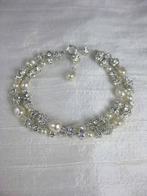 Grace 2 Strand Bridal Bracelet