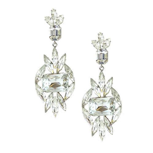 Full Mina Crystal Statement Earrings