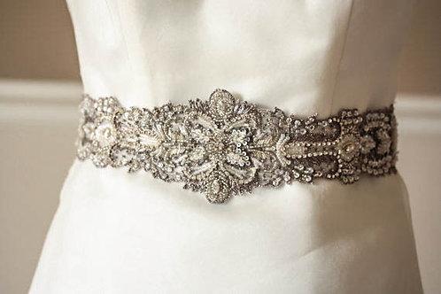 Antique Silver Bridal Sash