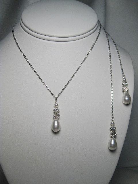 Grace II Lariat Bridal Necklace