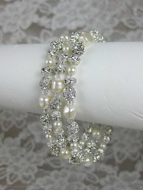 Grace 3 Strand Bridal Bracelet