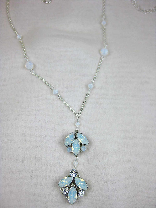 Chandra Bridal Necklace- White Opal Sample