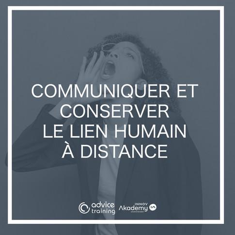 Communiquer et conserver le lien
