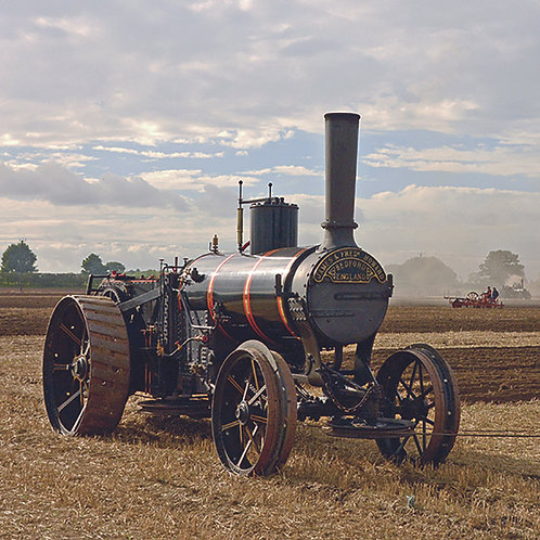 Traction powered ploughing