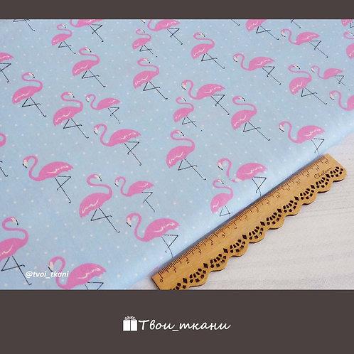 Фламинго на голубом