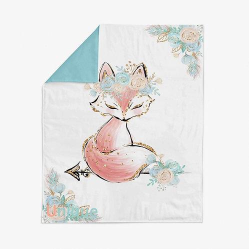 """Панель для одеяла 78*104см """"Лиса"""""""