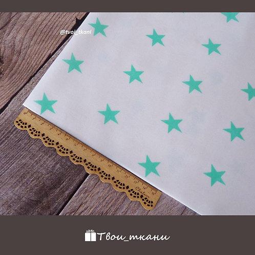 Звезды мелкие мятные на белом