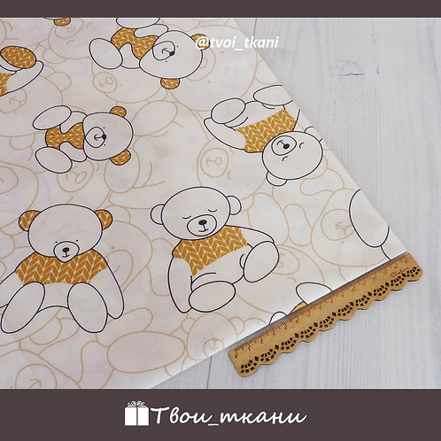 Сатин мишки в коричневых свитерах