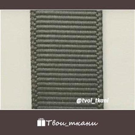 Лента репсовая 12мм серый