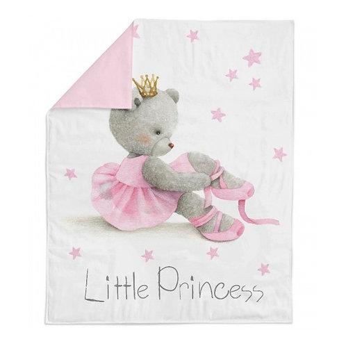 Панель для одеяла 78*104см Мишка балерина