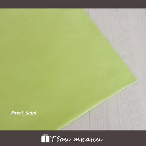 Сатин зеленый