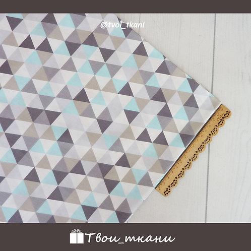 Треугольники серо-голубые