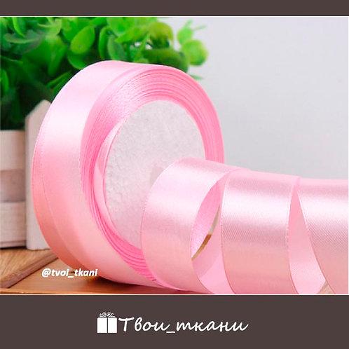 Лента атласная 25мм светлый розовый