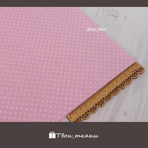 Горошек на розовом (3 мм)
