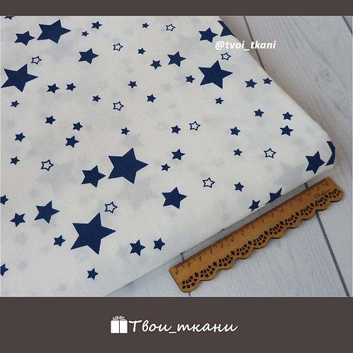 Звездочки синие на белом