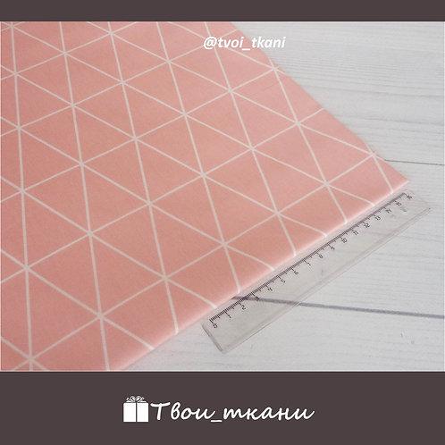Сатин треугольники на розовом