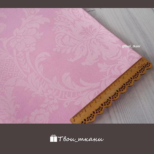 Жаккард розовый