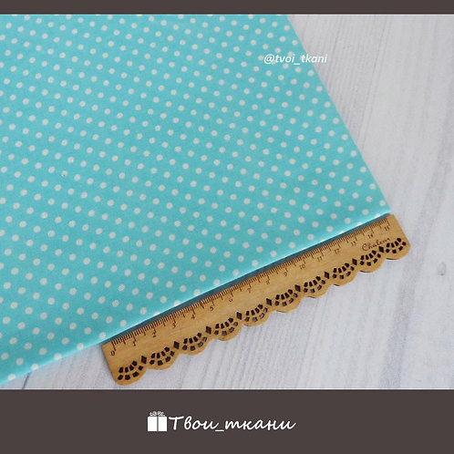 Горошек на бирюзовом (3 мм)