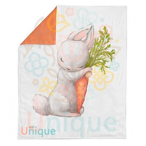 """Панель для одеяла 78*104см """"Зайка с морковкой"""""""