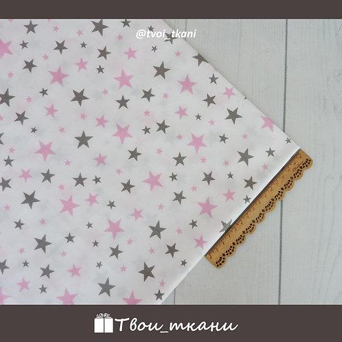 Серо-розовые звездочки