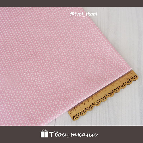 Сатин вязание розовое