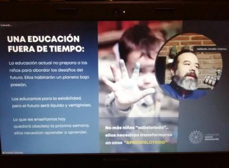 Arnoldo Cisternas en conferencia sobre El Impacto de la pandemia en la cultura educativa