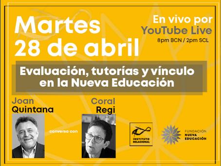 Conversaciones para la Nueva Educación en vivo a través de YouTube