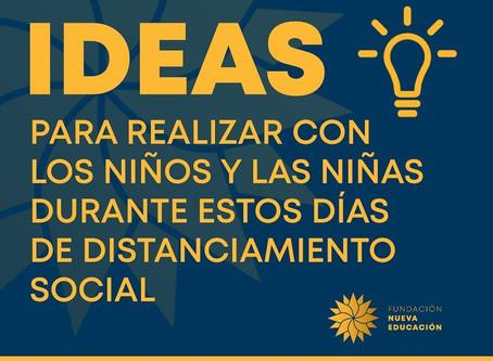 IDEAS para realizar con niñ@s durante tiempos de cuarentena