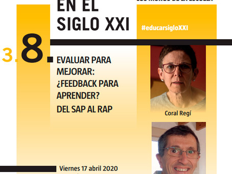 Webinar Educar siglo XXI: Coral Regi y José Antonio Sánchez Raba