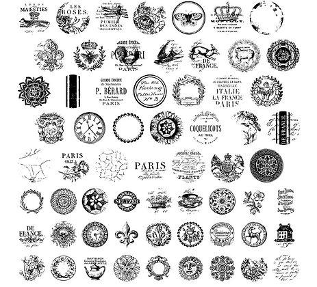 "Knob Topper Decor Stamp set - 12"" x 12"" page IOD"