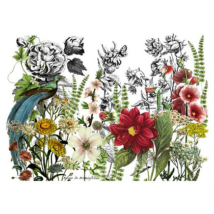 Midnight Garden IOD Decor Transfer - 24 x 33