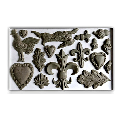 IOD Fleur-de-lis Decor Mould - 6x10 inches