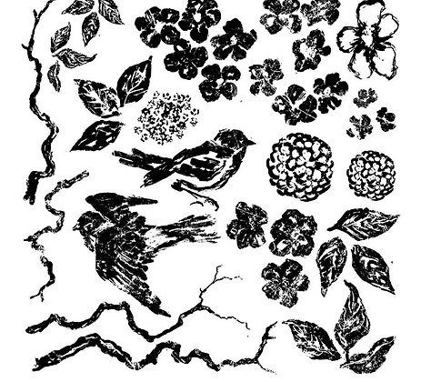 Birds, Blossoms, and Branches Iron Orchid Designs (IOD) transfer