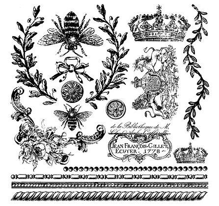 Queen Bee IOD Decor Stamp
