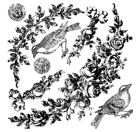 Floral Swags IOD Decor Stamp