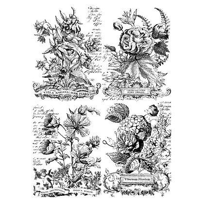 Classic Bouquets IOD Paintable Decor Transfer - 24 x 33